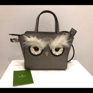 New Kate Spade Owl saffiano leather Crossbody bag